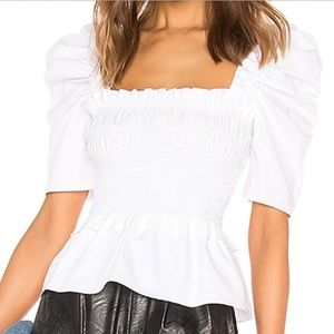 Amanda Uprichard Marisoo top in white NWOT
